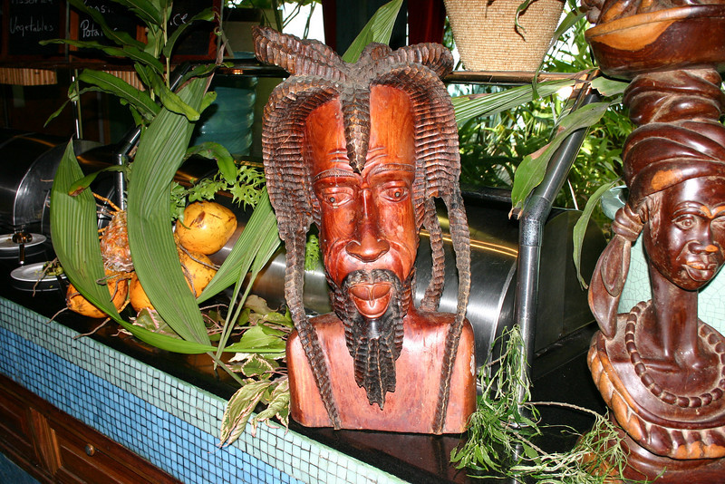 Art abounds at Couples Negril, and this carving was Jonathan's favorite!