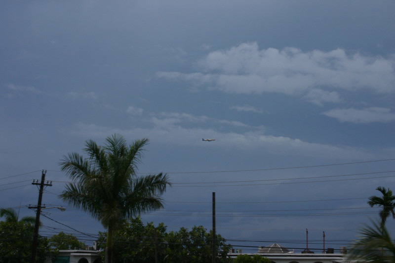 Air Jamaica, coming in for a landing.  They serve food and champagne on their flights... American could learn a lesson!