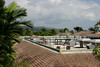 The view looking inland from the third floor.  In Negril, no building can be built higher than the tallest palm tree... so three stories is it.