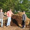 Illinois trip 023 - ShirleyBobJack planting on poop pile3