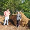 Illinois trip 022 - ShirleyBobJack planting on poop pile2