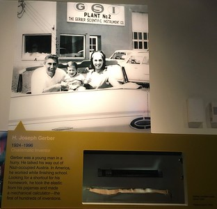 We found this exhibit about Joe Gerber, the founder of the company where Ken works.