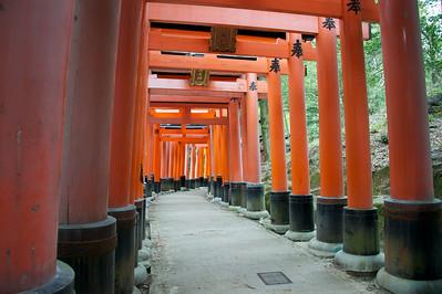 poorten van Fushimi Inari Shrine, Kyoto