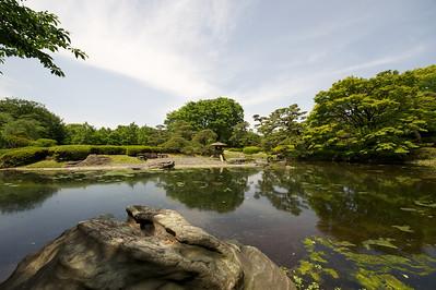keizerlijke paleis, vijver, Tokyo
