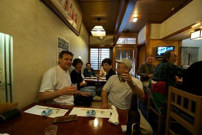 eten na training bij Yamashima sensei, Tokyo