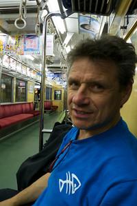 Rob, trein naar Tokyo