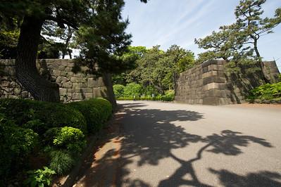 keizerlijke paleis, verdedigingsmuren, Tokyo