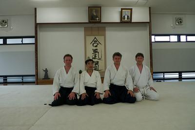 Na ochtend training Hombu dojo