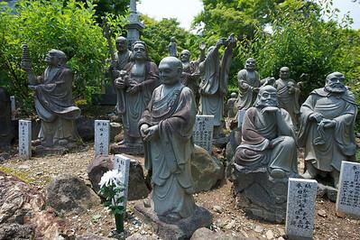 beelden vlakbij Togetsu-Kyo brug en Tenryuji Tempel, Kyoto