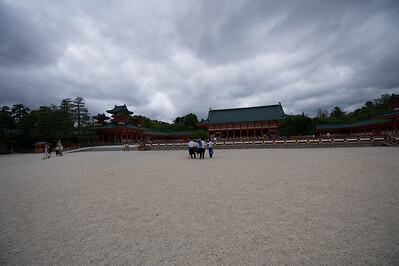 Heian Jingu Shrine, binnenplaats, Kyoto