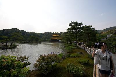 rechts van mij, links voor de kijker de Gouden Tempel, Kyoto