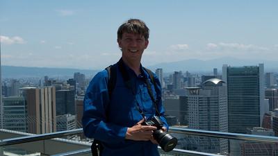 Toerist op Floating garden Observatory, Umeda Sky Building, Osaka
