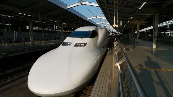 Shinkansen neus.