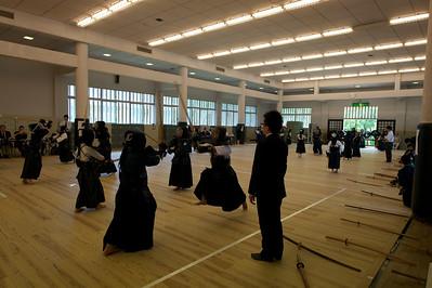 Kendo examen in Shudokan, Osaka Castle Park