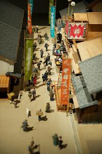 maquette in historisch museum van Osaka.