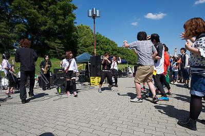 Ska-achtig Japans bandje, Osaka castle park