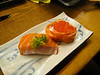 Salmon nigiri from Sushi Kan