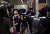 Schoolchildren at the Takarazuka station