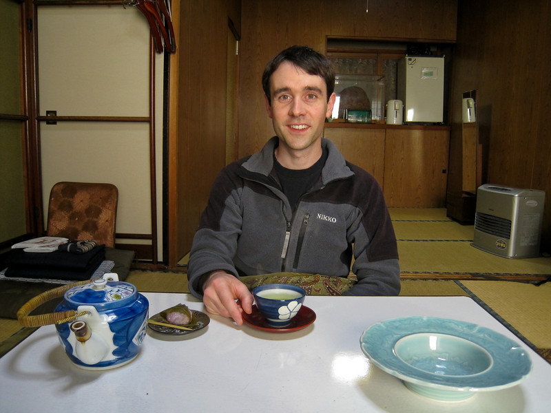 The ryokan gave us tea and sweets to welcome us