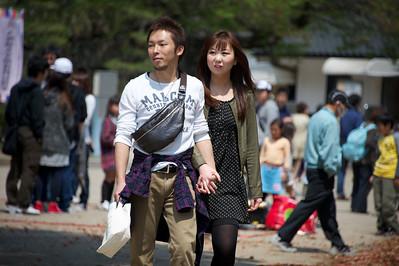 stelletje, Osaka castle park