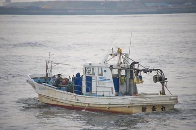 vissersboot in haven Osaka
