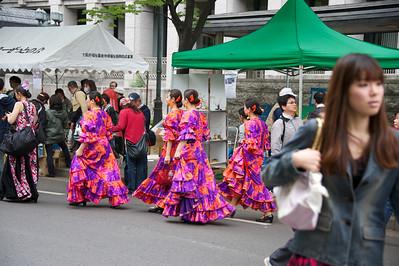 op weg naar de flamenco dansgroep