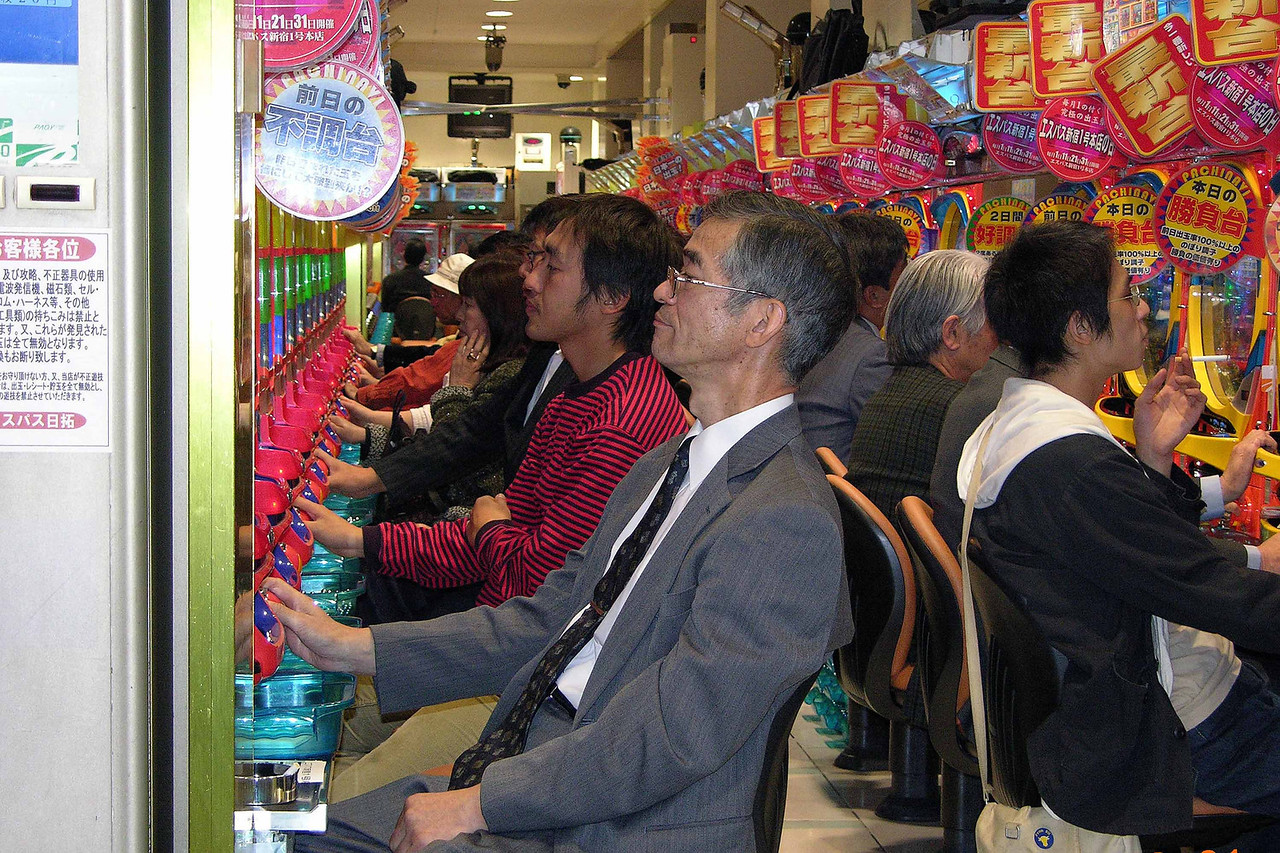 Japanese love their pachinko