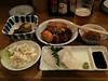 大阪、梅田で豚の角煮、牛すじ、ポテトサラダ、イカそうめん