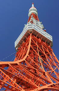 Tokyo Tower against a blue sky!