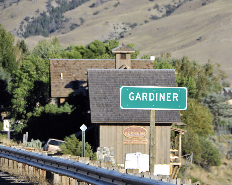 Gardiner, Montana is where the cabins are.  It is right outside the North Entrance to Yellowstone.