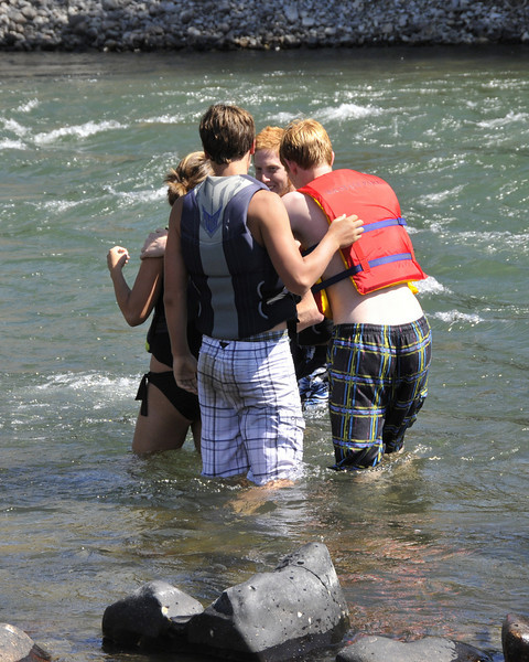 We starting out using the tubes ... then it was even more fun just to free float down the river in a life vest!