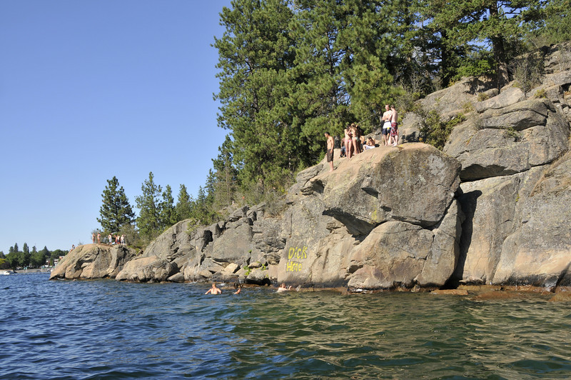 JESSICA AND ZACH WANTED TO JUMP OFF THE ROCK...