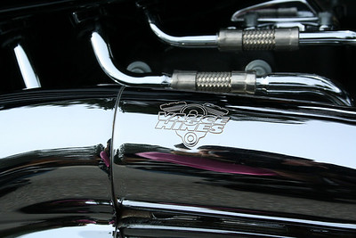 Close up of Jerry's Harley.