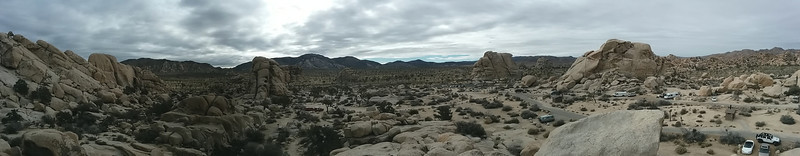 Panorama from the top of the campsite rock