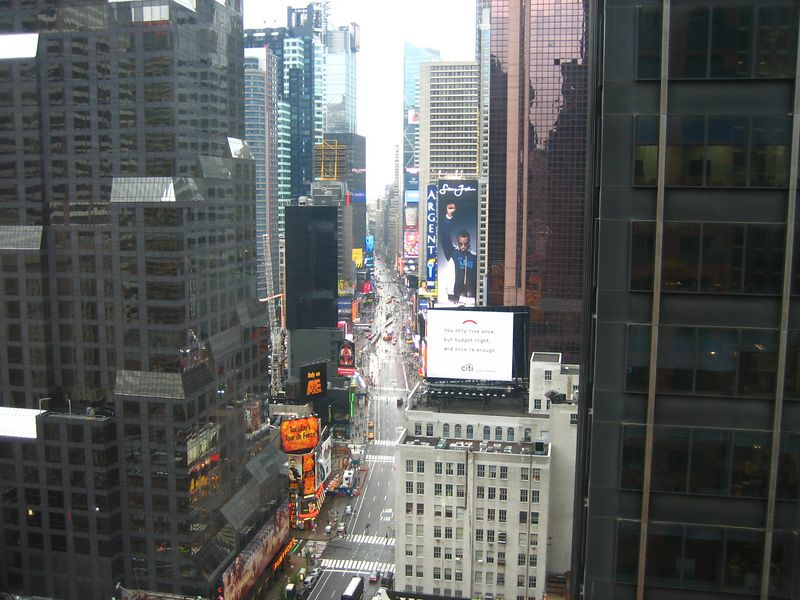 View of Times Square from our room.