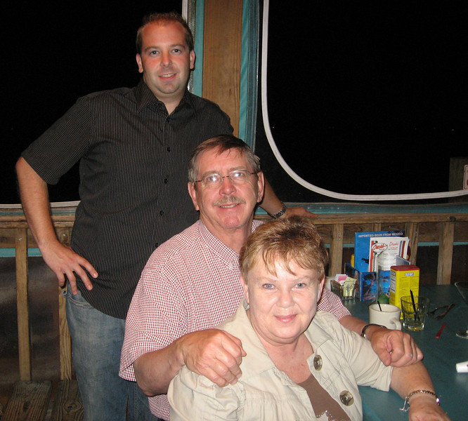 Eric and his old codger parents celebrating their 40th anniversary at Chick's Oyster Bar in Norfolk.