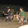 A couple of Eric's friends pickin' and girnnin' during a Saturday night party on Eric's new deck.