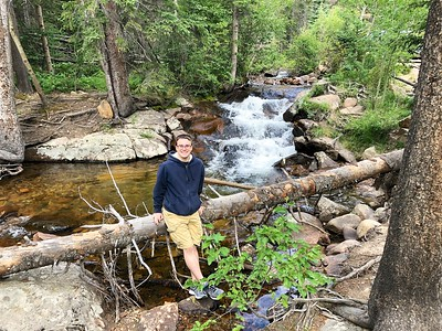 James @ Chasm Waterfall in Rocky Mountain NP