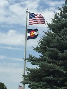 American & Colorado Flags @ Burlington Rest Stop