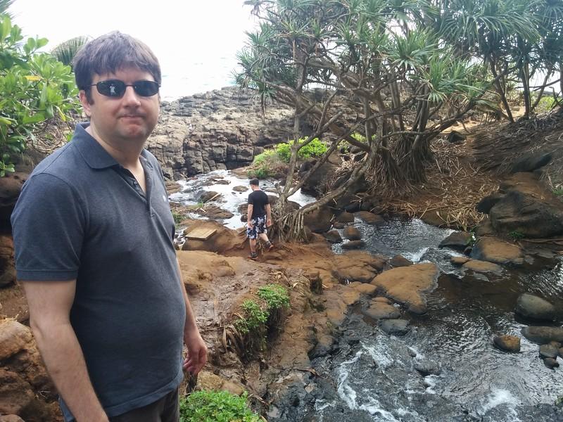 crossing a stream