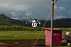 Our helicopter arriving from the previous tour.<br /> -----<br /> Notre hélico arrive de sa sortie précédente