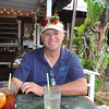 waiting for the kalua-pig quesadillas (yum) at Tom Kat's Grille in Old Koloa Town.