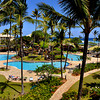 The view from our room at Kauai Beach Resort on the East side.