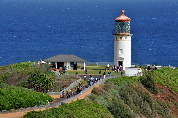 tourists visiting the lighthouse