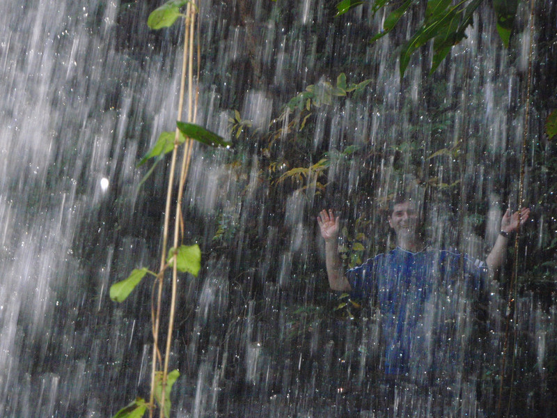 me under the waterfall