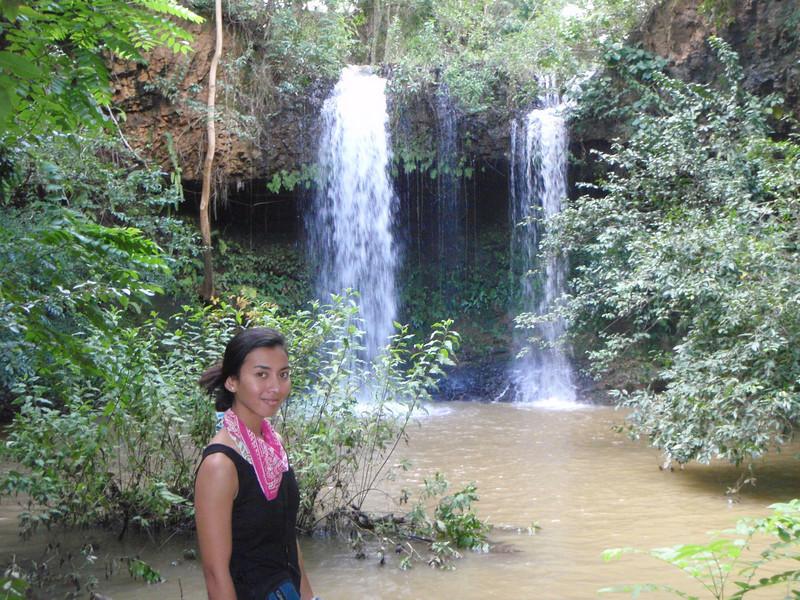 Waterfall on Kipu Ranch near the lunch spot