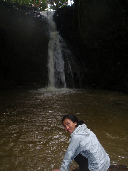 Waterfall and swimming hole we visited towards the end of our ATV Tour with Kipu Ranch Adventures