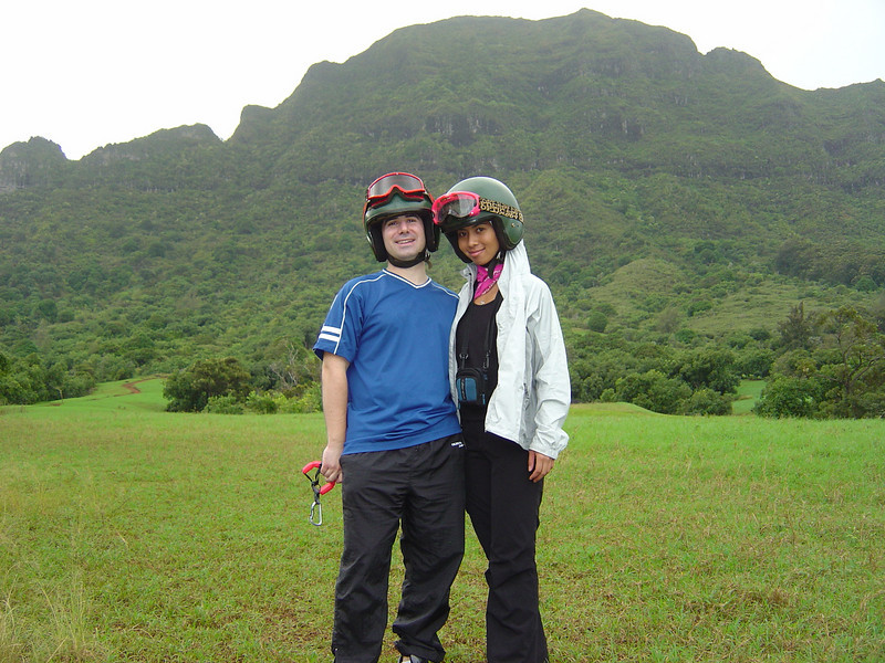 Lavina and I on our ATV Tour at Kipu Ranch