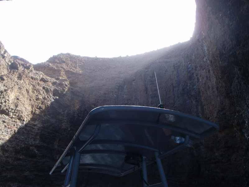 A look inside the cave (open top)