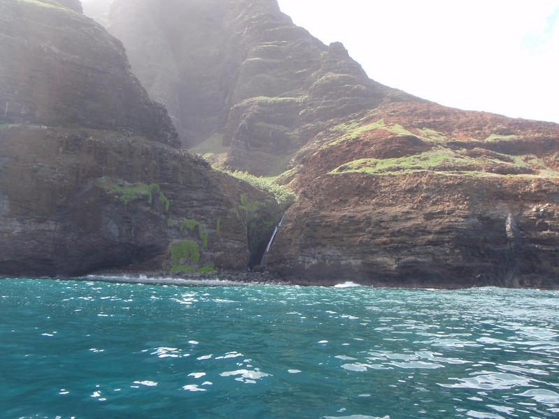 Waterfall on the Na Pali Coast